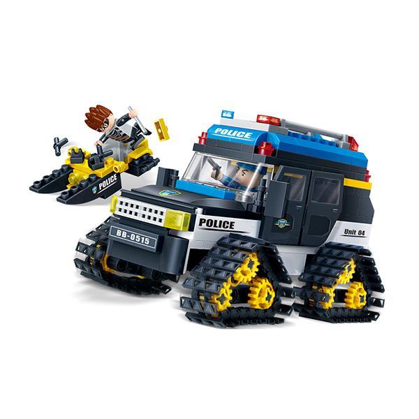 【Banbao邦寶積木】警察系列-雪地警用車 7007