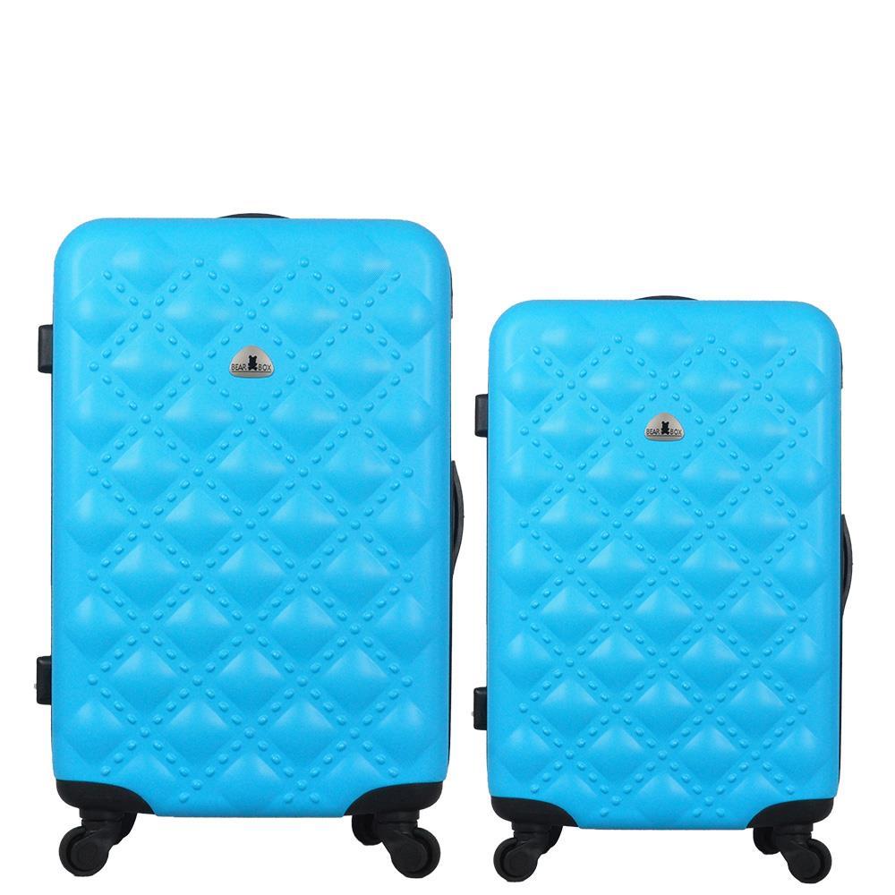 BEARBOX時尚香奈兒系ABS霧面輕硬殼行李箱旅行箱登機箱拉桿箱兩件組28+24吋