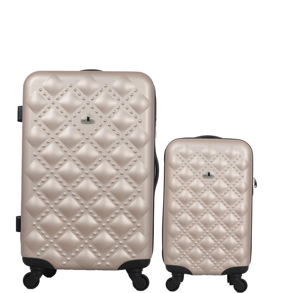 BEAR BOX 時尚香奈兒ABS霧面行李箱旅行箱登機箱拉桿箱兩件組28+20