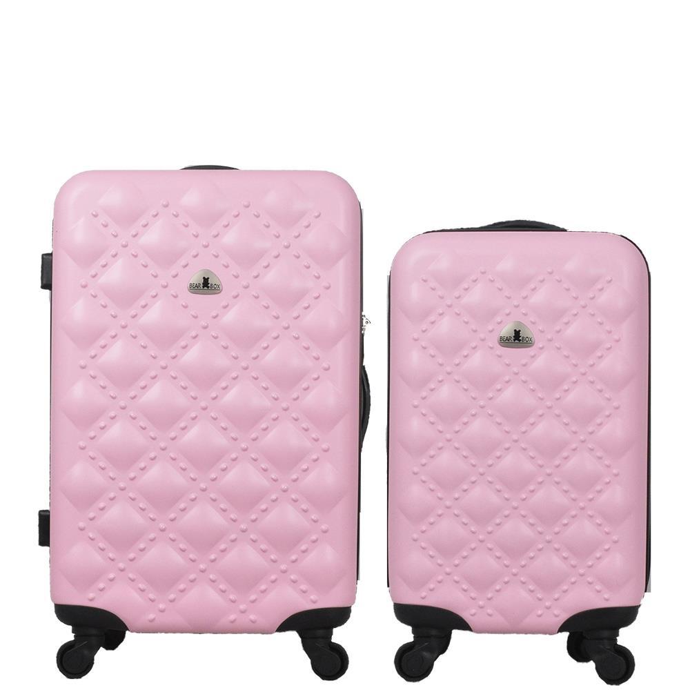 BEAR BOX時尚香奈兒系ABS霧面輕硬殼行李箱 旅行箱登機箱拉桿箱兩件組24+20