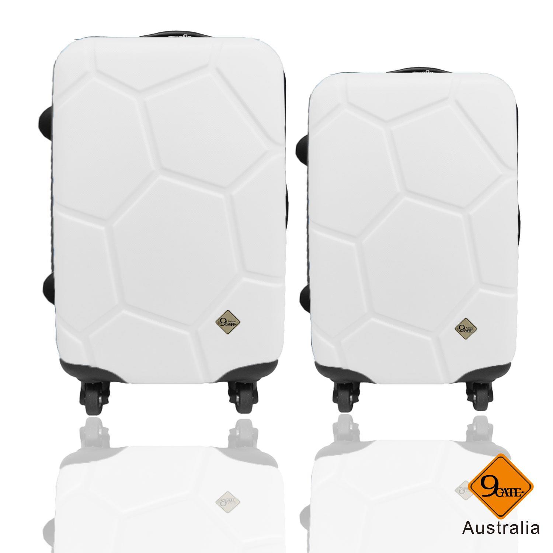 Gate9世紀足球系列28吋+24吋輕硬殼旅行箱/行李箱