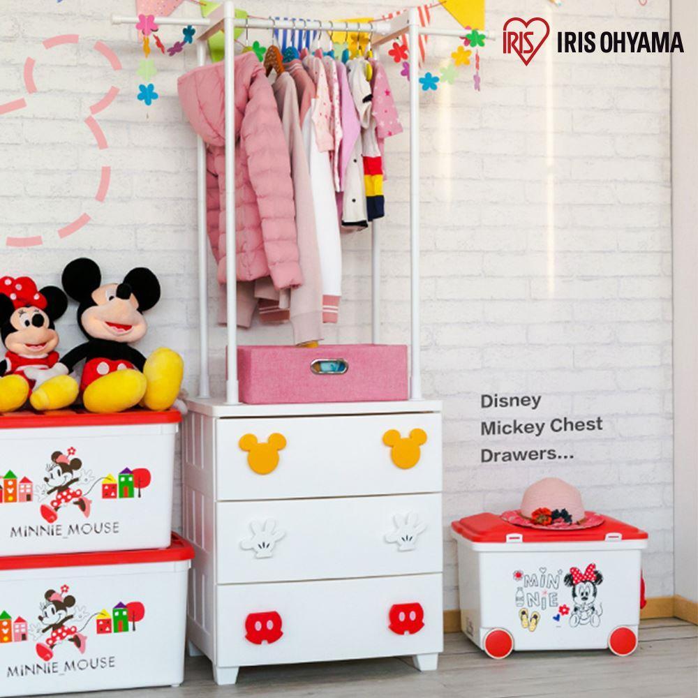 【日本 IRIS OHYAMA】迪士尼米奇系列衣架式式收納櫃(3層) MG-553MK