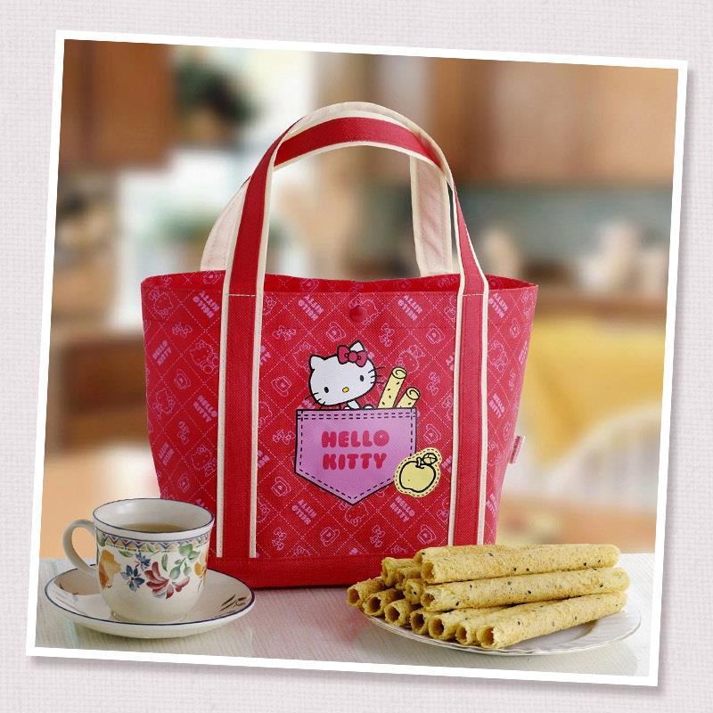 【Hello Kitty】芝麻蛋捲黃蘋果禮盒:64g(4支裝)*4包入/盒