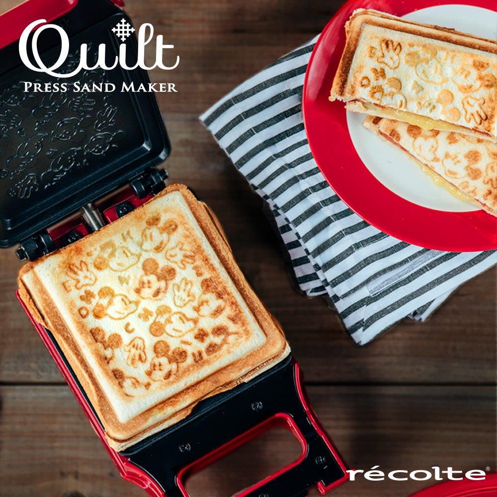 【recolte 日本麗克特】Quilt 格子三明治機-迪士尼米奇米妮系列
