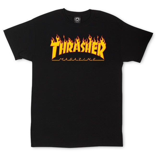 THRASHER FLAME S/S T-Shirt 短TEE 黑色