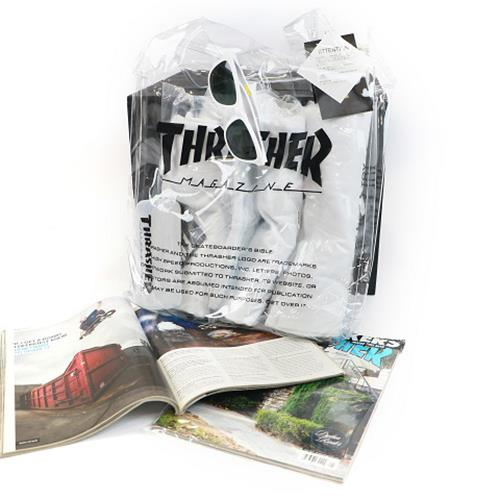 THRASHER JAPAN LICENSED HOMETOWN CLEAR TOTE BAG 白色