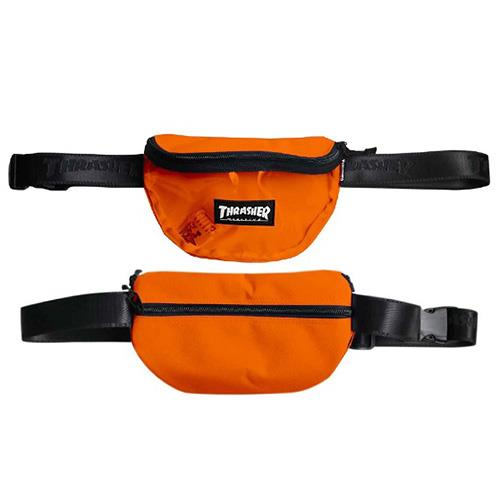 THRASHER JAPAN LICENSED HOMETOWN CLEAR FANNY PACK WAIST BAG 橘色