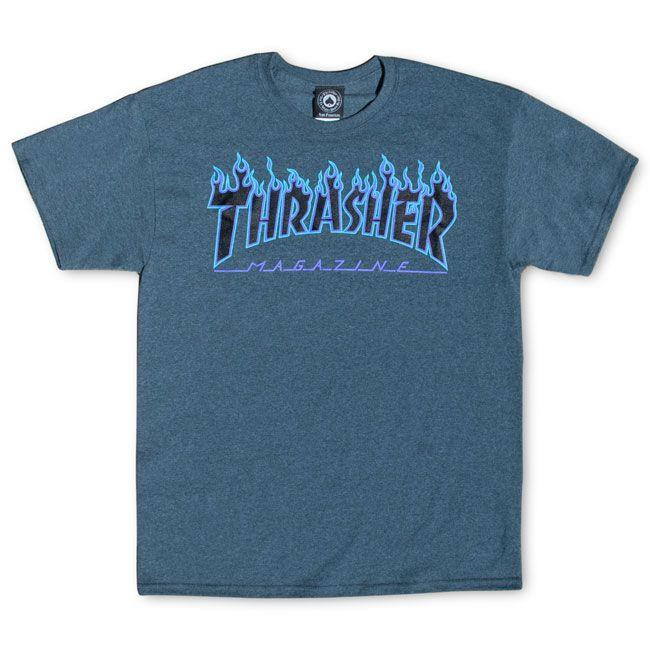 THRASHER FLAME S/S T-Shirt 短TEE 深灰色