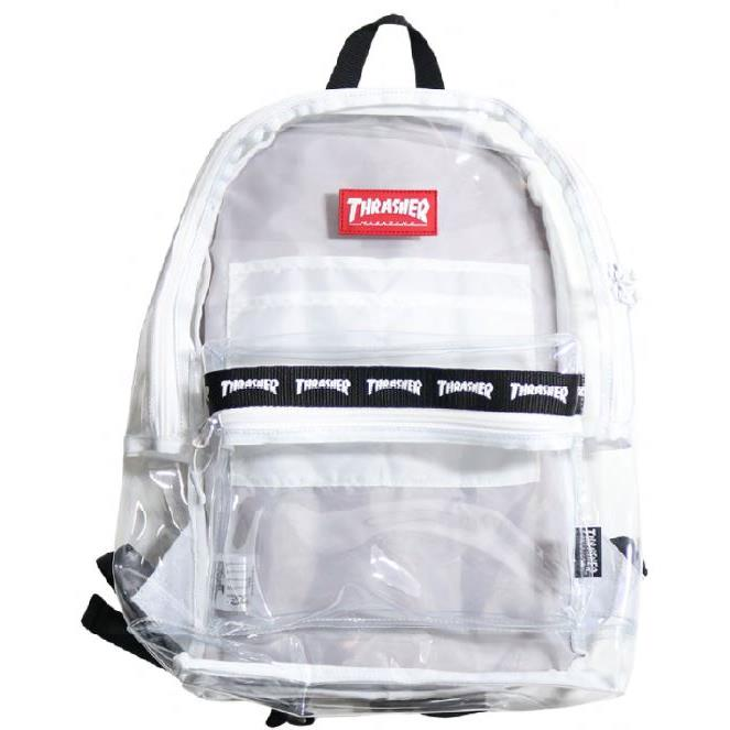 THRASHER JAPAN LICENSED HOMETOWN CLEAR BACKPACK 透明後背包 白色