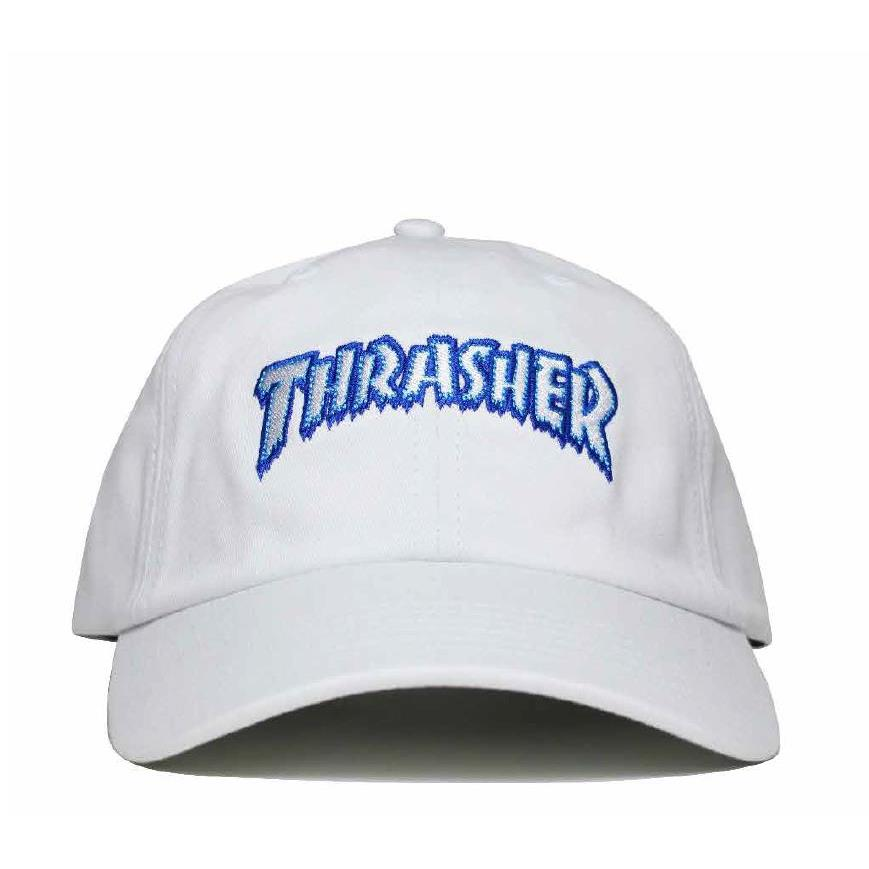 THRASHER JAPAN LICENSED HOMETOWN ICE DAD HAT STRAPBACK 白色
