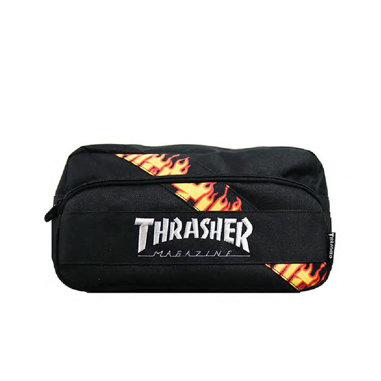 THRASHER JAPAN LICENSED FLAME BODY BAG 黑色