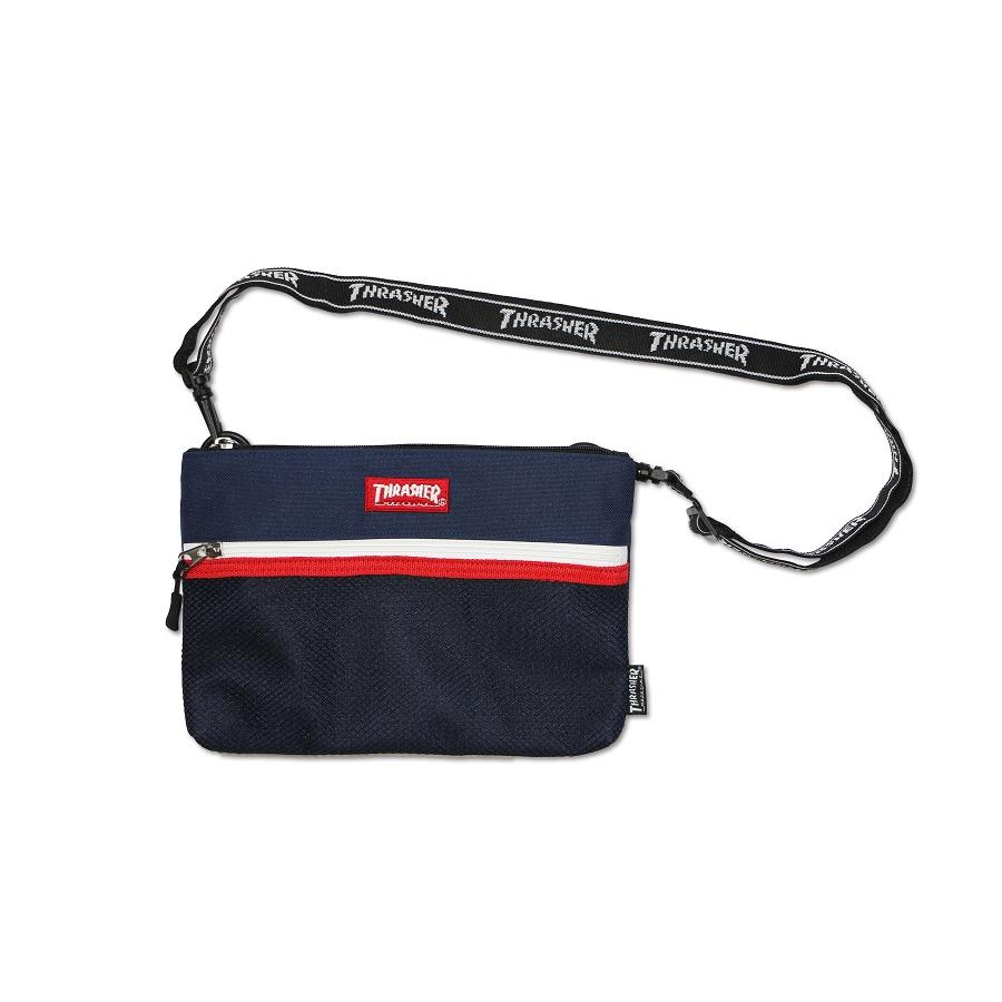 THRASHER JAPAN LICENSED PATRIOT SHOULDER BAG 深藍色