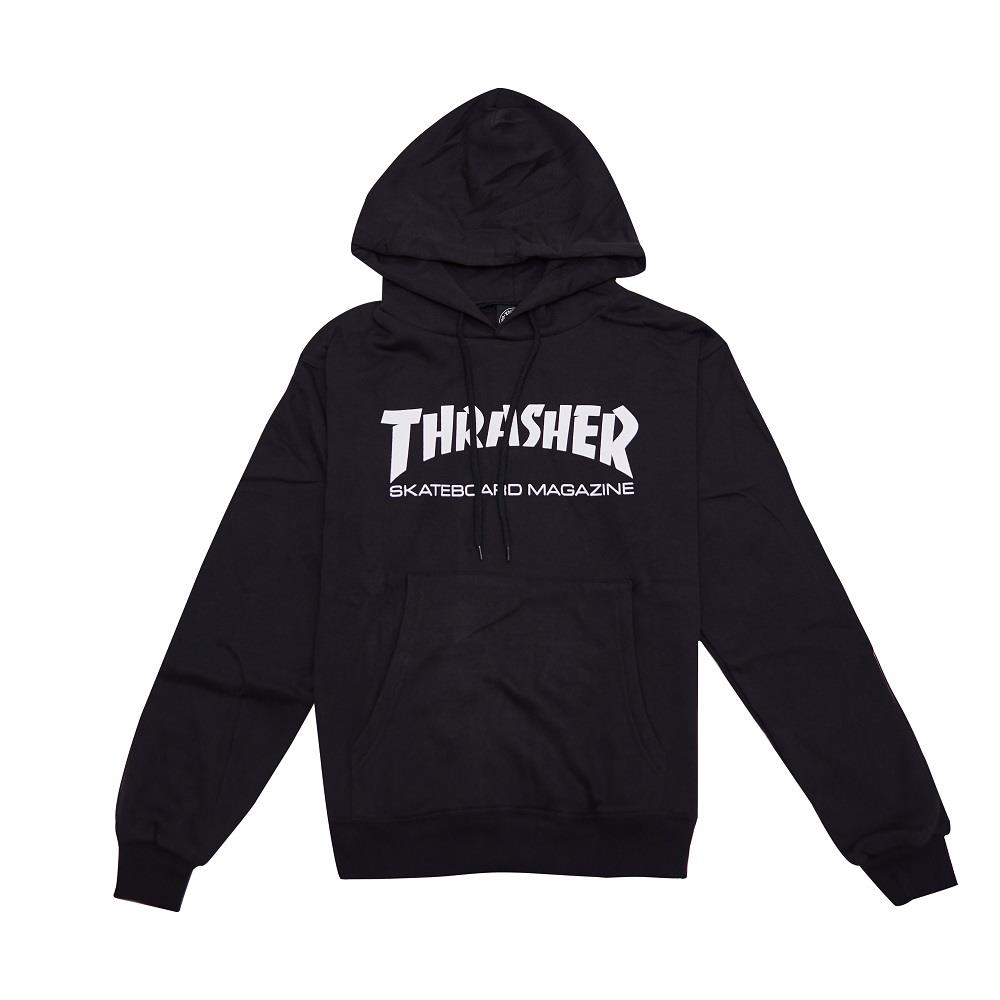 【全台獨家限量】THRASHER SKATE MAG HOODED 帽TEE 黑色