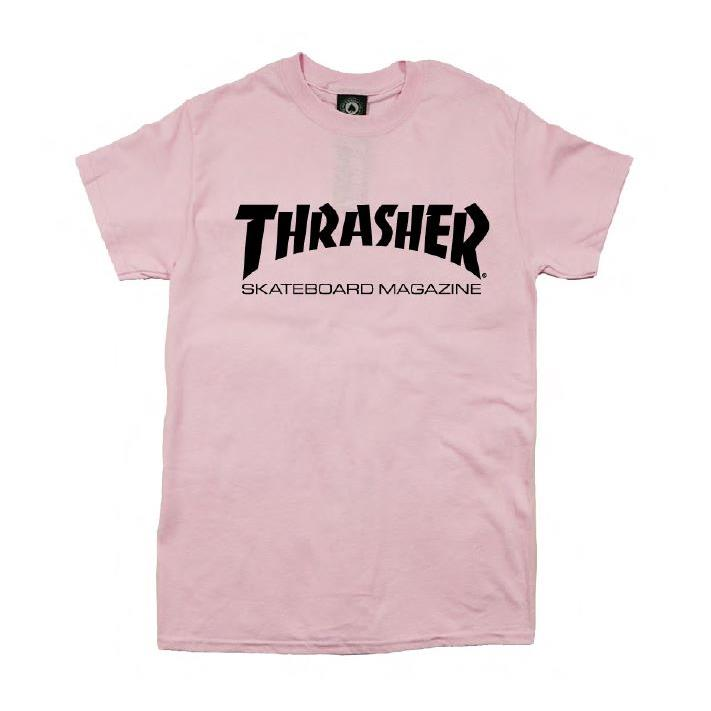 THRASHER JAPAN LICENSED SKATE MAG T-Shirt 短TEE 粉色