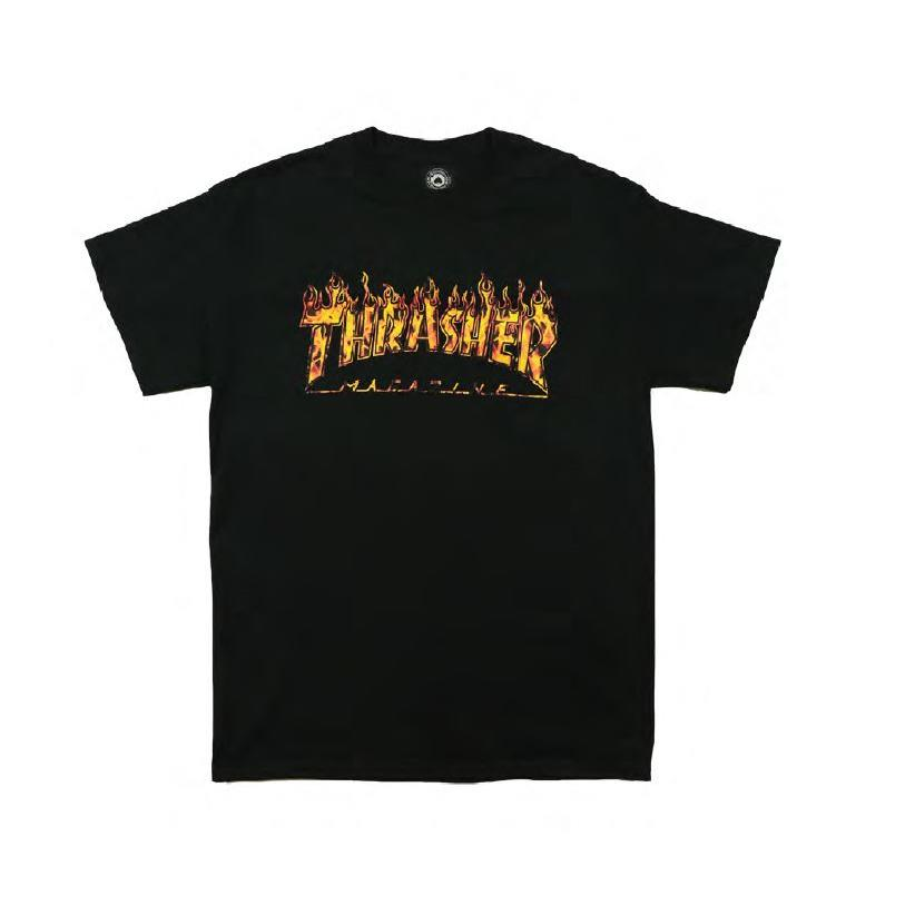 THRASHER JAPAN LICENSED REAL FIRE T-Shirt 短TEE 真火焰黑色