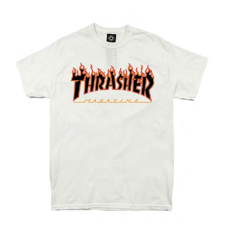 THRASHER JAPAN LICENSED FLAME T-Shirt 短TEE 火焰橘色