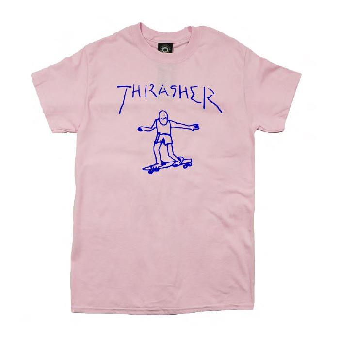 THRASHER JAPAN LICENSED GONZ T-Shirt 短TEE 滑板小人粉色