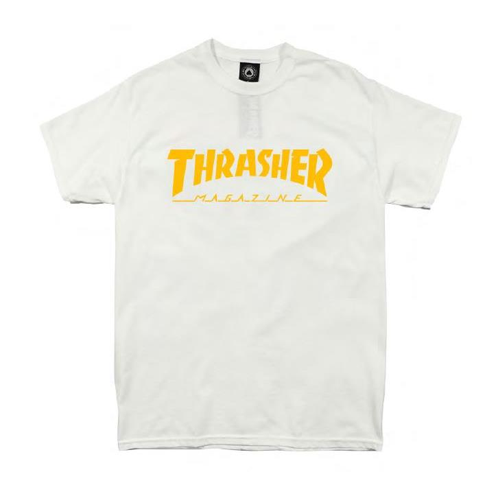 THRASHER JAPAN LICENSED HOMETOWN T-Shirt 短TEE 白金色