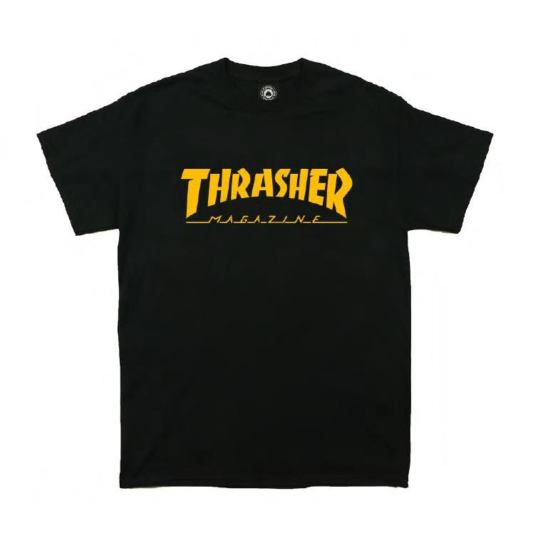 THRASHER JAPAN LICENSED HOMETOWN T-Shirt 短TEE 黑金色