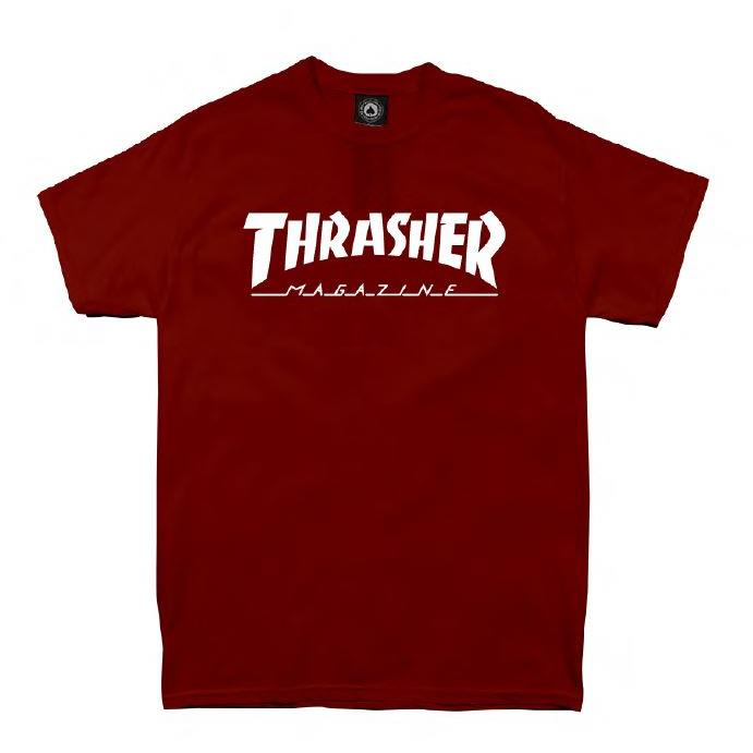 THRASHER JAPAN LICENSED HOMETOWN T-Shirt 短TEE 酒紅色