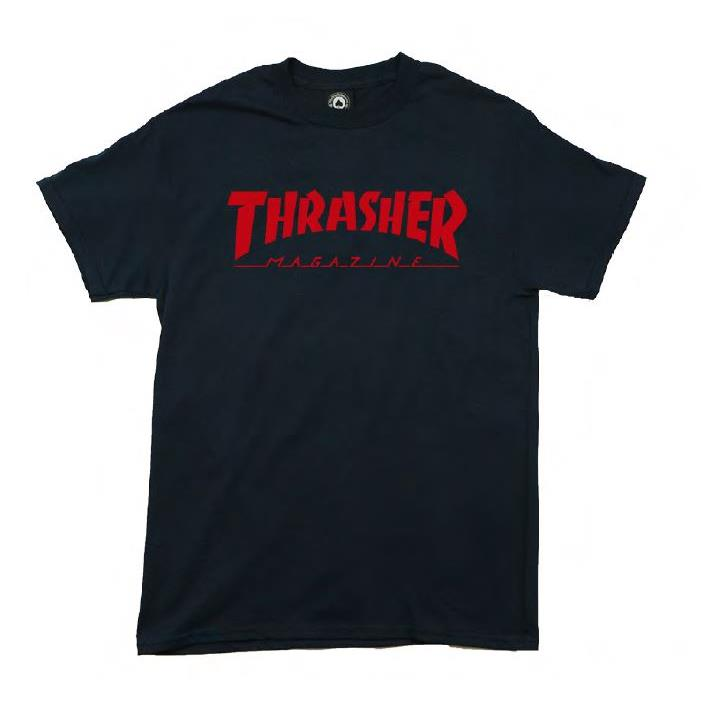 THRASHER JAPAN LICENSED HOMETOWN T-Shirt 短TEE 深藍色