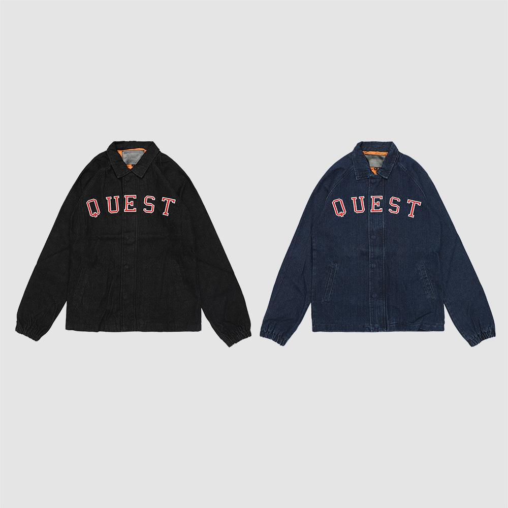 【QUEST】DENIM COACHES JKT 牛仔教練外套