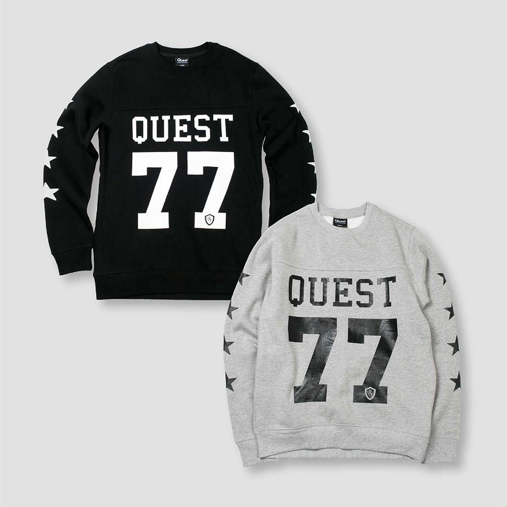 【QUEST】STAR SWEATER 刷毛 大學T