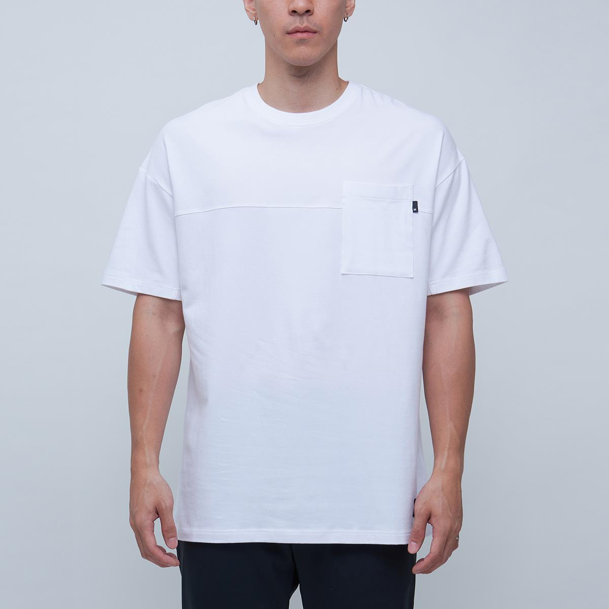 DAYONE SPLICED OVERSIZE TEE-WHITE