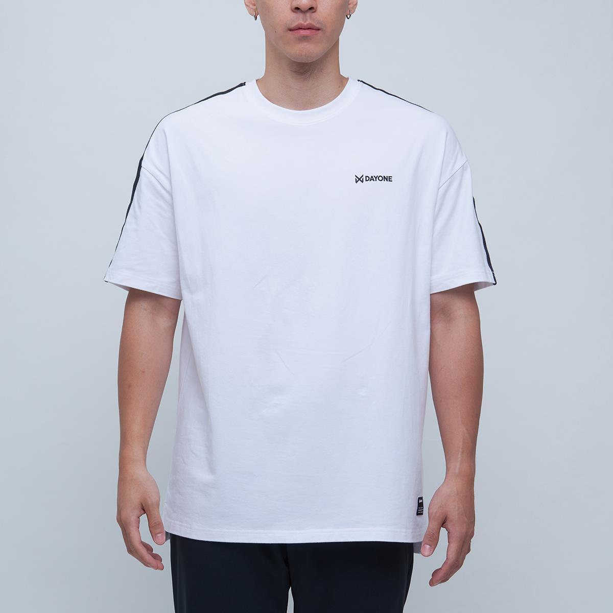 DAYONE STRAP OVERSIZE TEE-WHITE