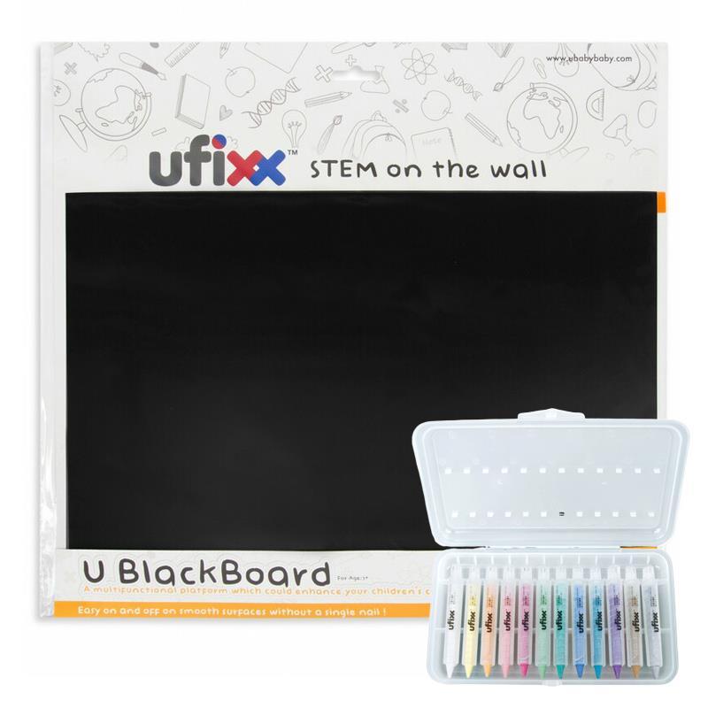 (溫太專屬)【小小創意家套組】ufixx silicone 黑板貼 A3+ufixx 12 色無毒水蠟筆