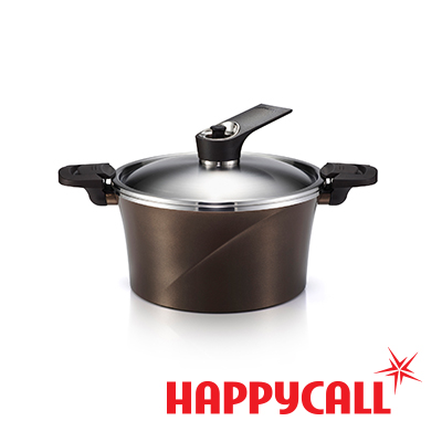 【HAPPYCALL】韓國真空IH壓力鍋(24cm深湯鍋玫瑰金)