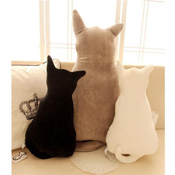 療癒系背影貓咪抱枕 40cm