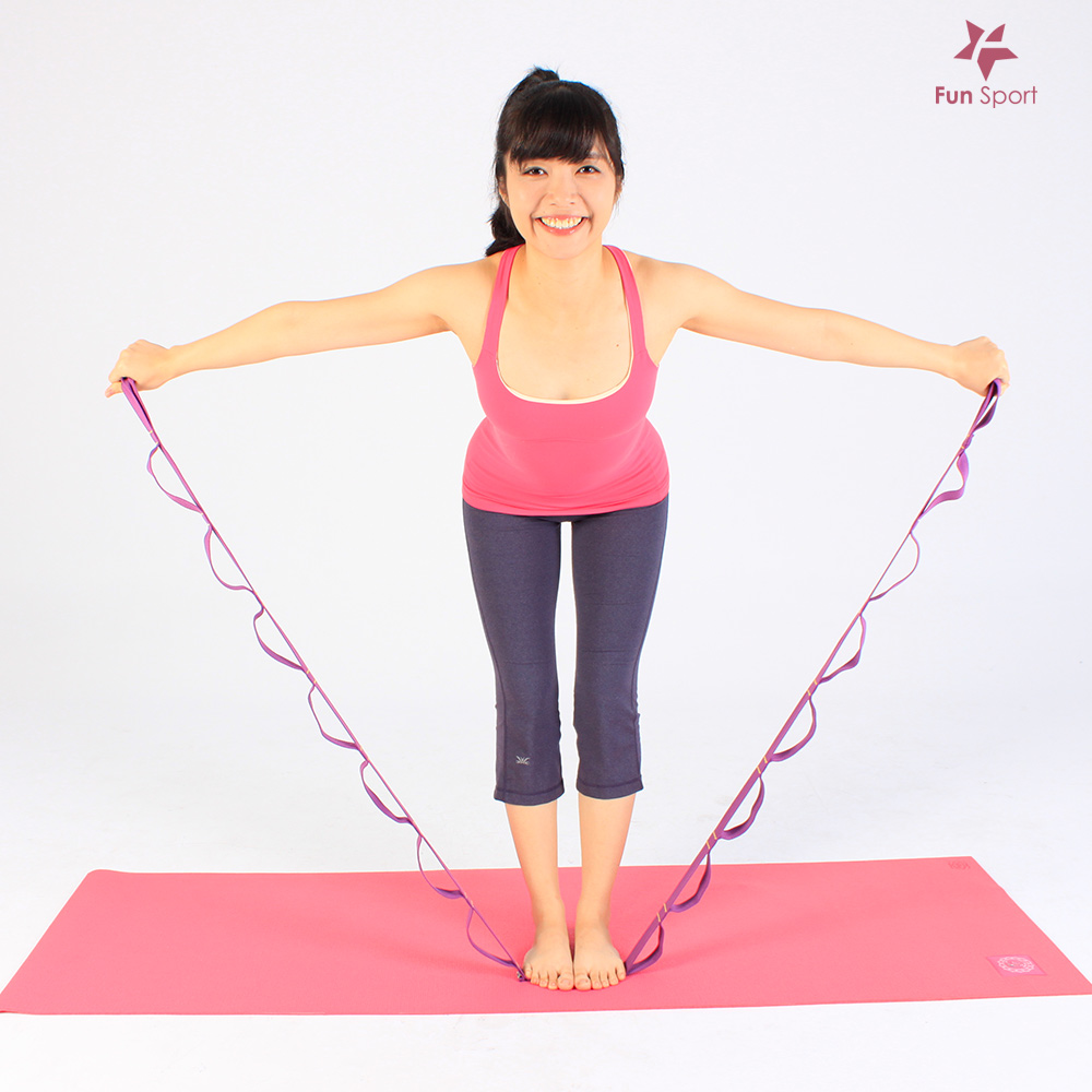 順力環瑜珈伸展繩(1入)/拉筋帶/助展帶/stretch strap/環節式助展帶FunSport