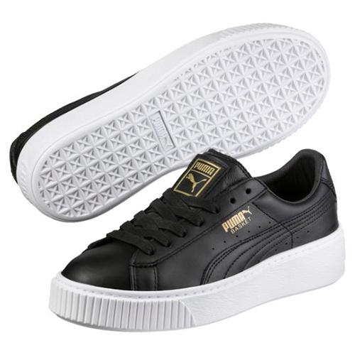 Puma Basket Platform Core 厚底休閒鞋 蕾哈娜 Rihanna 黑白 金標 女鞋