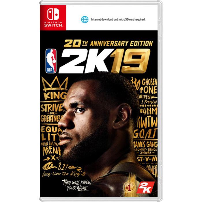 【預購NS】NBA 2K19 20 週年紀念版《中文版》—2018.9.7上市