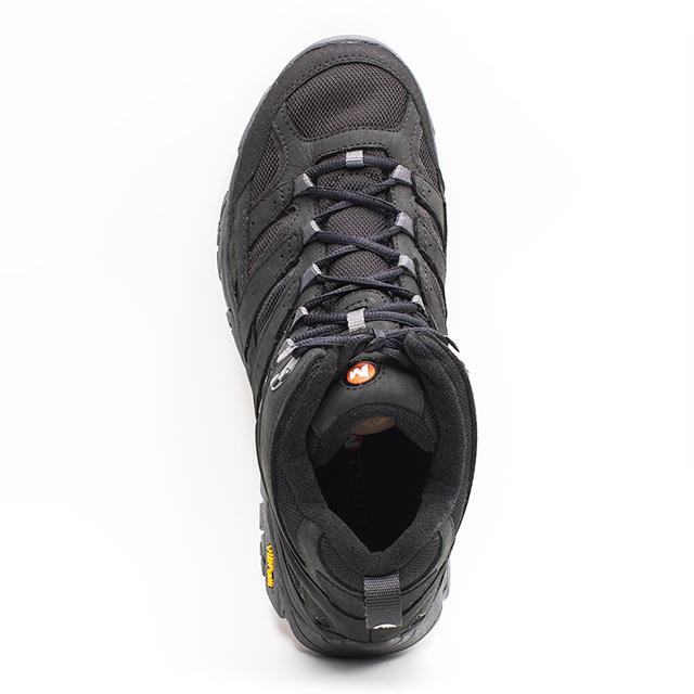 MERRELL MOAB 2 SMOOTH MID GORE-TEX®登山鞋 郊山鞋 黃金大底健走男鞋-黑(另有咖) bb7630a2a66