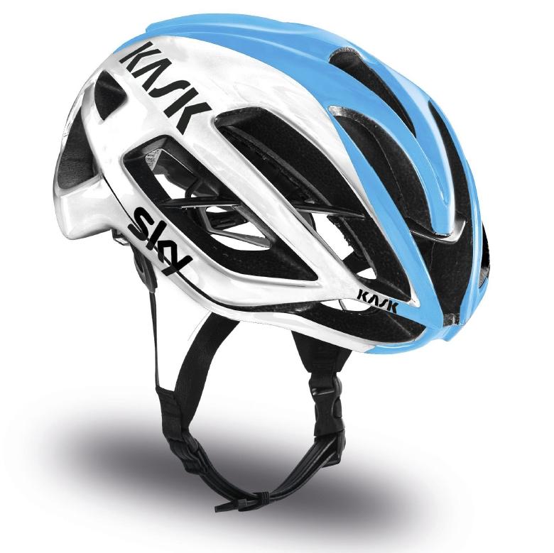 義大利 KASK PROTONE 公路車帽 [ TEAM SKY 白/亮藍] 公路車/單車/自行車/直排輪/安全帽