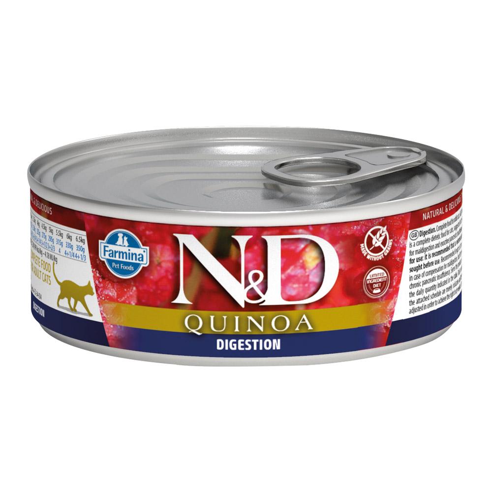 法米納|N&D天然藜麥無穀機能-貓用主食罐80g